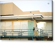 The Balcony Of The Lorraine Motel Where Acrylic Print by Everett