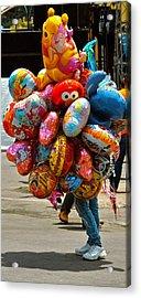 The Balloon Lady Acrylic Print