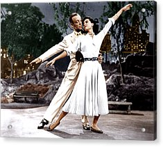The Band Wagon, From Left Fred Astaire Acrylic Print by Everett