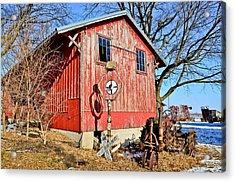 The Barn Acrylic Print by Brenda Becker