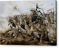 The Battle Of Achi Baba 1915 Acrylic Print by Chris Collingwood