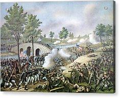 The Battle Of Antietam, September 17 Acrylic Print by Everett