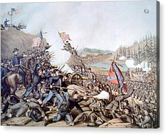The Battle Of Franklin, November 30 Acrylic Print by Everett