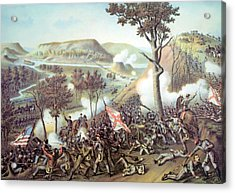 The Battle Of Missionary Ridge Acrylic Print by Everett