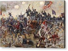 The Battle Of Spotsylvania Acrylic Print by Henry Alexander Ogden