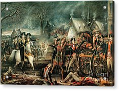 The Battle Of Trenton 1776 Acrylic Print by Photo Researchers