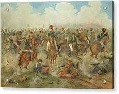 The Battle Of Waterloo June 18th 1815 Acrylic Print