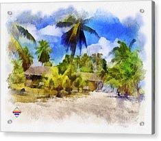 The Beach 01 Acrylic Print by Vidka Art