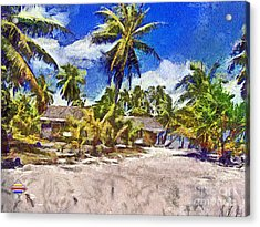 The Beach 02 Acrylic Print by Vidka Art