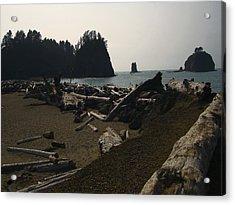 The Beach At Twilight Acrylic Print by Kym Backland