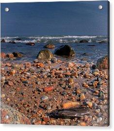 The Beach Acrylic Print by David Hahn