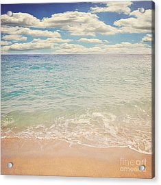 The Beach Acrylic Print by Lyn Randle