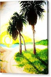 The Beach Acrylic Print by Ragdoll Washburn