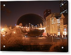 The Bean On A Winter Night Acrylic Print