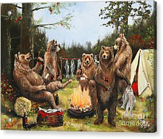 The Bear Party Acrylic Print by Stella Violano