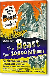 The Beast From 20,000 Fathoms, Advance Acrylic Print by Everett