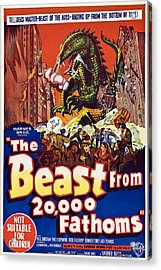 The Beast From 20,000 Fathoms Acrylic Print by Everett