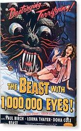 The Beast With A Million Eyes, 1955 Acrylic Print