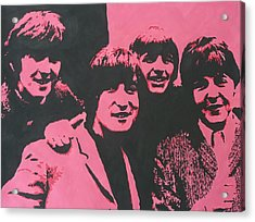 The Beatles In Pink Acrylic Print