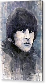 The Beatles Ringo Starr Acrylic Print by Yuriy  Shevchuk