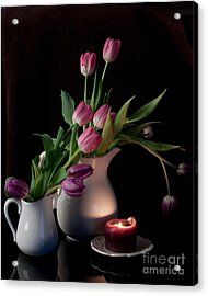 The Beauty Of Tulips Acrylic Print by Sherry Hallemeier