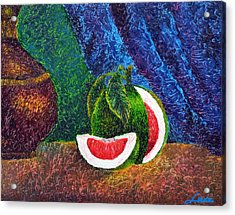 The Beauty Within Series--juicy Grapefruit Acrylic Print by Luxo N P