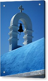 The Bell Tower In Mykonos Acrylic Print by Vivian Christopher