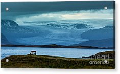 The Bench And The Glacier Acrylic Print