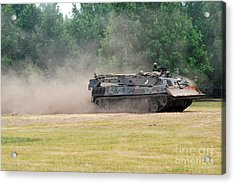 The Bergepanzer Used By The Belgian Army Acrylic Print by Luc De Jaeger