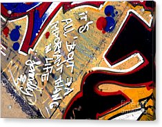 The Berlin Wall 4 Acrylic Print by Mark Azavedo