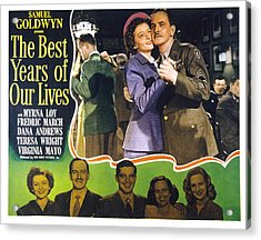 The Best Years Of Our Lives, Myrna Loy Acrylic Print by Everett