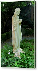 The Bible Garden Acrylic Print by Mindy Newman