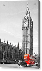 Acrylic Print featuring the photograph The Big Ben - London by Luciano Mortula