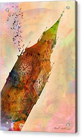 The Big Ben Acrylic Print by Mark Ashkenazi