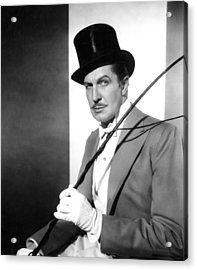The Big Circus, Vincent Price, 1959 Acrylic Print by Everett