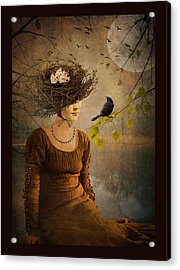 The Bird Watcher Acrylic Print by Marie  Gale