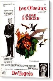 The Birds, Aka Alfred Hitchcocks The Acrylic Print