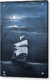 The Black Pearl Acrylic Print by Rajeev M Krishnan
