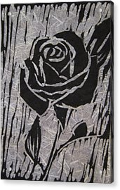 The Black Rose Acrylic Print by Marita McVeigh