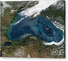 The Black Sea In Eastern Russia Acrylic Print by Stocktrek Images
