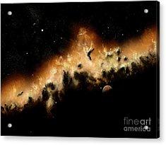 The Blast Wave Of A Nova Pulls Away Acrylic Print by Brian Christensen