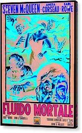 The Blob, Italian Poster Art, 1958 Acrylic Print by Everett