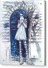 The Blue Door Acrylic Print by Lori Keilwitz