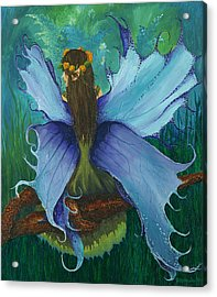 The Blue Fairy Acrylic Print by Deborah Ellingwood