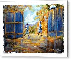 The Blue Gates Of Haiti Acrylic Print by Bob Salo