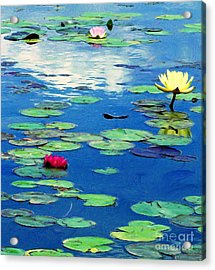 The Blue Pond  Acrylic Print by J Jaiam