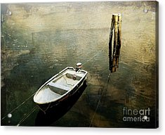 The Boat In Winter Acrylic Print