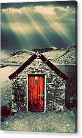 The Boathouse Acrylic Print by Meirion Matthias