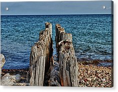 Acrylic Print featuring the photograph The Bones Of Superior by Rachel Cohen