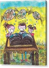 The Book Club Acrylic Print by Robert Wolverton Jr